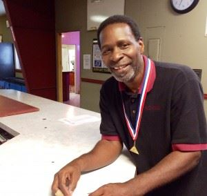 Donald Chatman rolled the high game of the Masters Games bowling competition, a 273.