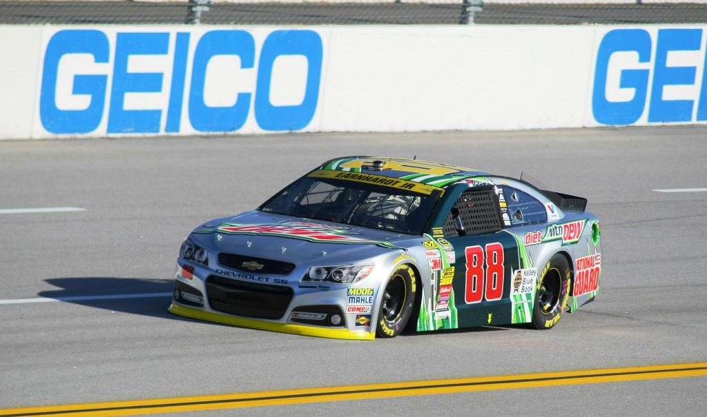 Dale Earnhardt Jr. figures he has to win Sunday to advance into the next round of the Chase for the Cup. (Staff photos)