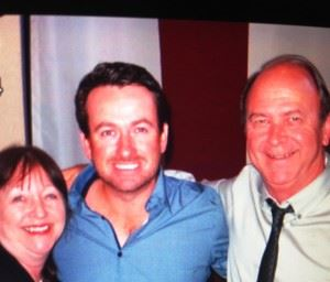 Kenny Szuch and wife Ramona visit with Graeme McDowell at the Tour star's Nona Blue Irish Pub.