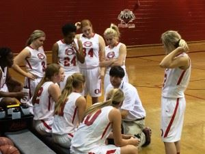 Ohatchee coach Bryant Ginn plots strategy during a time out.