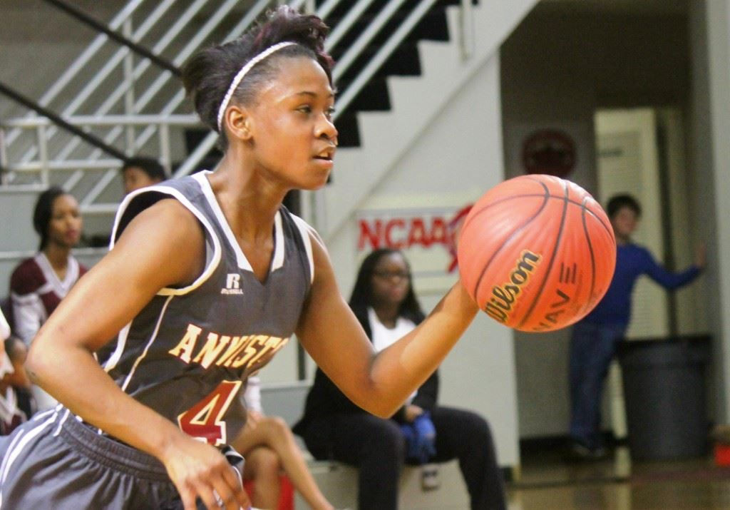 Anniston junior guard Raven Cooley was named MVP of the Calhoun County Girls Tournament after deftly juggling several roles in the championship game against Jacksonville. (Photo by Chad Barnett)
