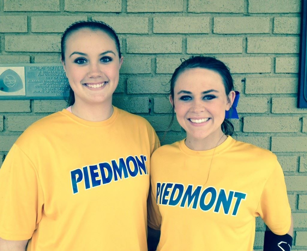 Piedmont's Kendall Pressley (L) and Torre Roberts have been playing ball since they were 3 and on the same teams since they were 8. (Photo by Brant Locklier)