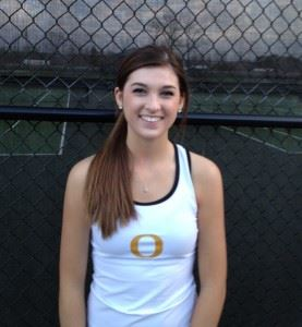 Oxford's Holly Hamlin jumped out to a 5-0 lead in her singles match and eventually won 8-6.