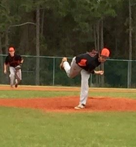 Alexandria's Will Reaves delivers a pitch against the Randolph School. (Special photo)