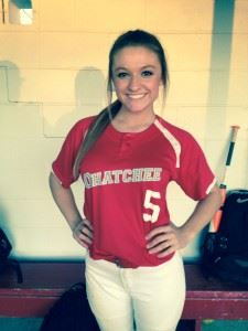 Shey Clements was the winning pitcher against Saks. On the cover, Morgan Lee had three hits and three RBIs to lead a 16-hit Ohatchee attack.