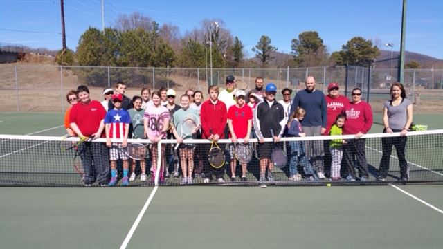 Jack Totherow's Cardio Tennis program is popular with his students at the Golden Springs tennis courts.
