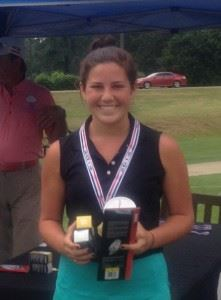 Jordan Gregoria has won the Calhoun County girls title the last two years. White Plains' Layne Dyar (on the cover) beat her in a tournament playoff Thursday.