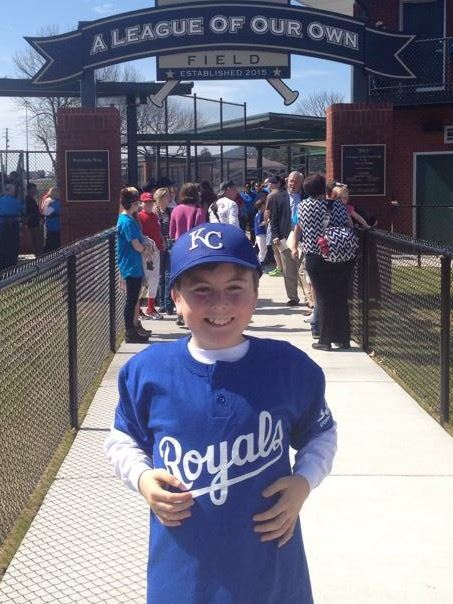 Peyton Wigington looks forward to playing in the weekly baseball games at Oxford's League of Our Own field.