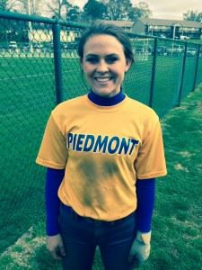 Piedmont's Torre Roberts helped her team to two wins with four hits and several spectacular plays in the field.