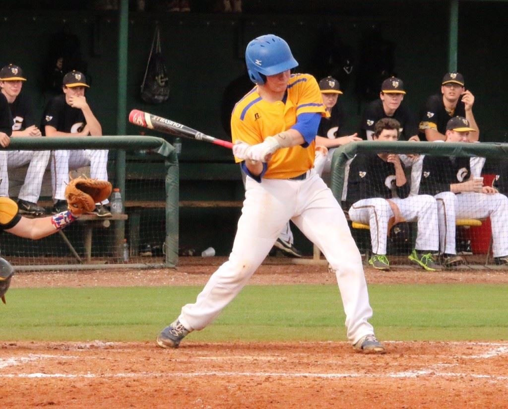 Sophomore catcher Derrick Baer adjusted his stance and had six hits and seven RBIs last weekend for Piedmont.