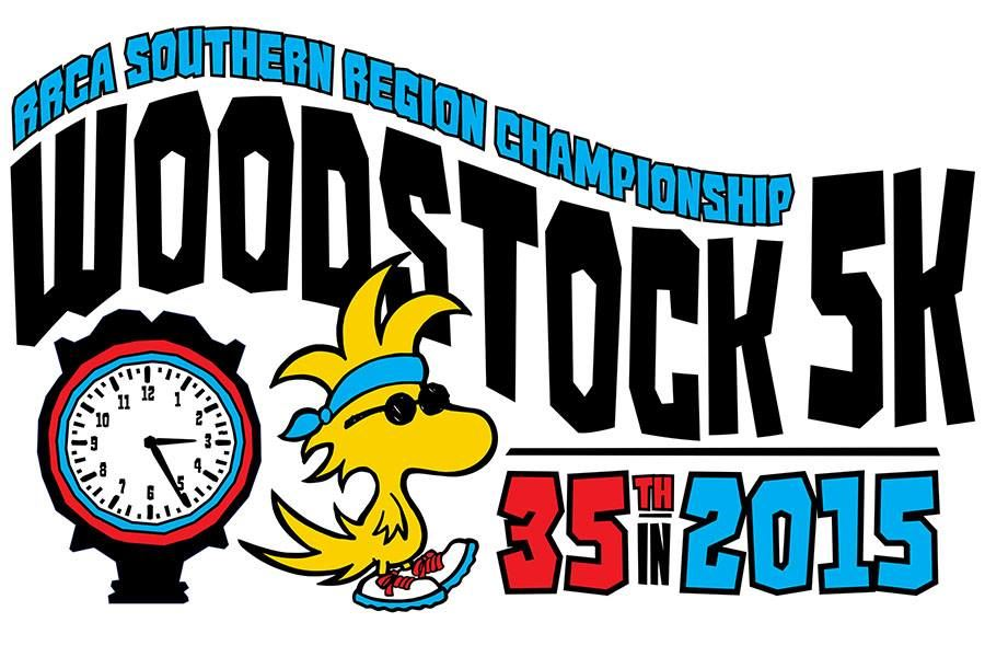 The Woodstock 5K logo takes on a new look this year. The rolling script in the name represents the hills on the historic course and the hands on the clock point to 3 and 5 to reflect the race's 35th anniversary. On the cover, Patrick Cheptoek hits the tape last year for his third straight win.