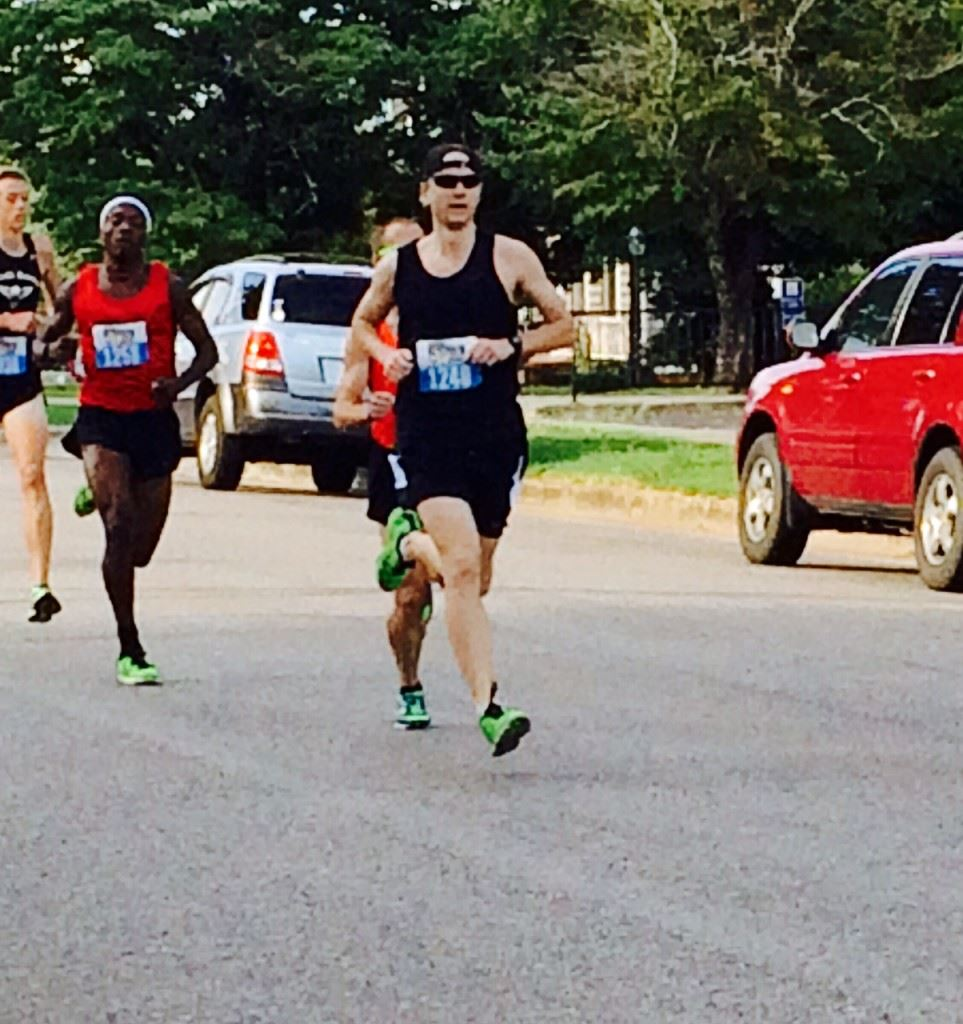 Scott Fuqua of Irondale leads the field early on Christine Avenue. He finished second.