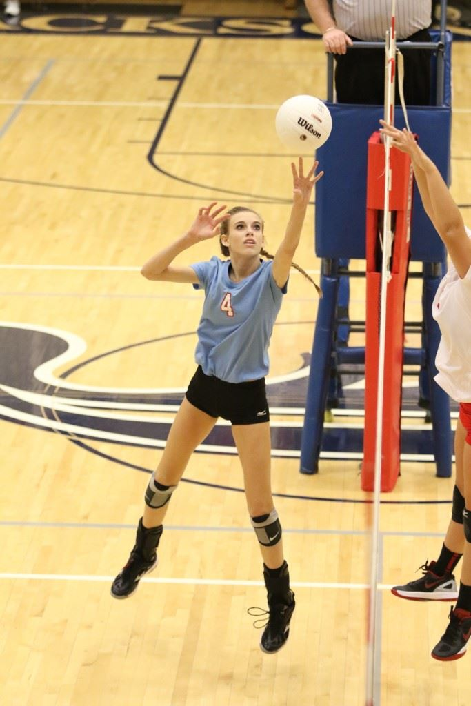 Cammy Cochran had 11 kills in the Saks match and 49 during PV's three victories. (Photo by Kristen Stringer/Krisp Pics Photography)