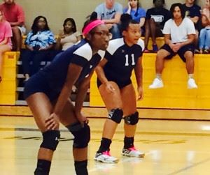 Rayanna Gordon and Aniyah Robinson (11) have played big roles for Jacksonville in the absence of injured Sierra Stone this week.