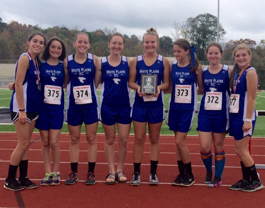 The White Plains girls cross country team finished second in its sectional, heading to the state meet.
