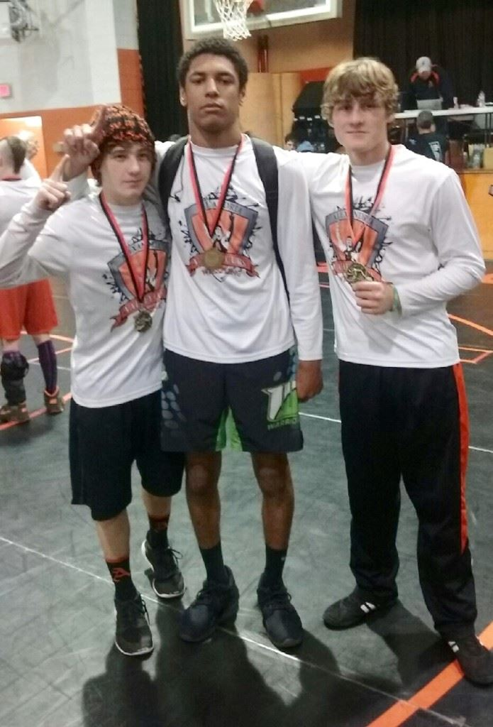 Three of Alexandria's four champions Saturday display their medals after the Valley Cub Invitational (from left) Fletcher Swindall, Christian Knop and Judson Cash (not pictured Lane Trapp). (Photos courtesy of Curtis Knop)