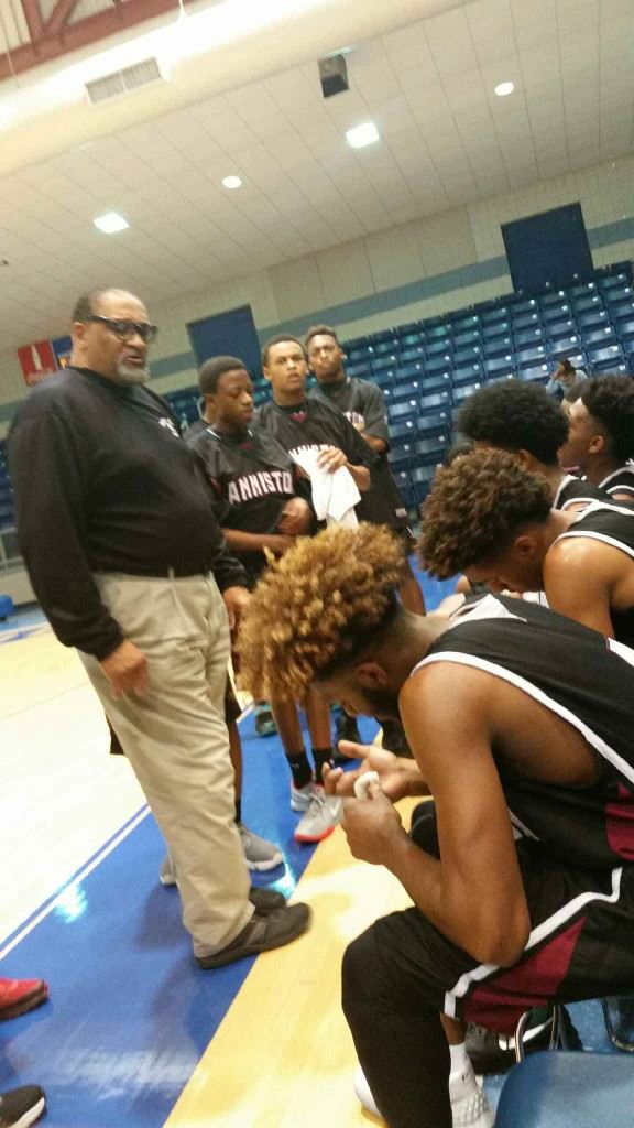 Anniston coach Schuessler Ware gets his point across during a time out Thursday.