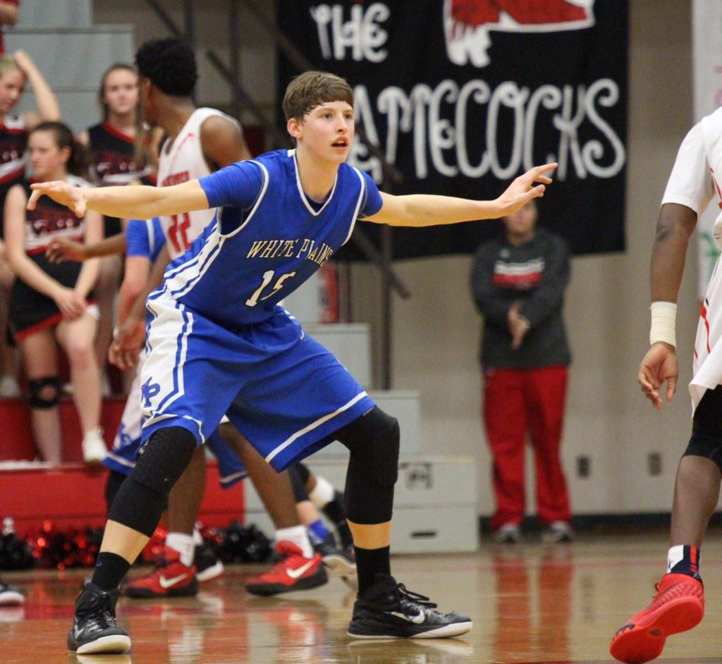 White Plains' Michael McGuirk had another big game in Saks' gym Tuesday night.