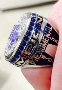 Here is the ring. (Photos by Emily Harrell)