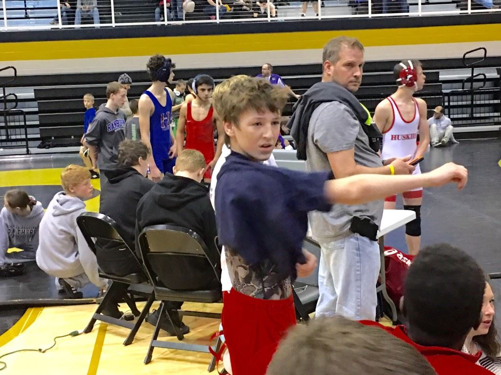 Reed Hill, an eighth-grader on the Ohatchee varsity, dominated three opponents Saturday in winning a State 14U 103 title for the East Alabama Wrestling Club.