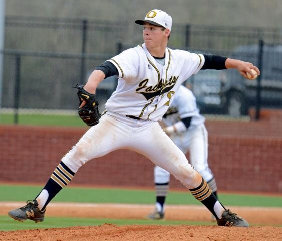 Brody Syer threw seven strong innings and nearly hit the first home run at Choccolocco Park in Oxford's win over Gadsden City. (Photo by B.J. Franklin/GungHo Photos)