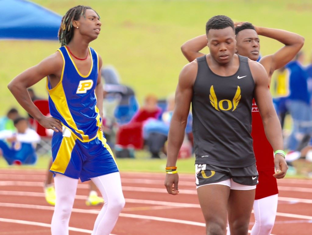 You can call Oxford's Laquavious Ford the fastest man in the county this year. He won the boys 100 and 200 Tuesday. (Photo by Kristen Stringer/Krisp Pics Photography)