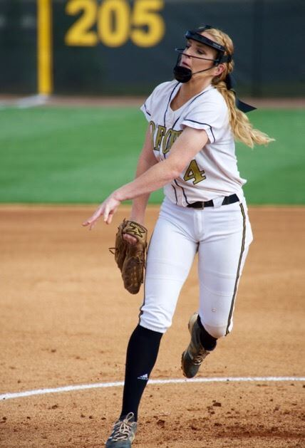 Senior Taylor Ellison started in the circle for Oxford and struck out five of the eight batters she faced. (Photo by B.J. Franklin/GungHo Photos)