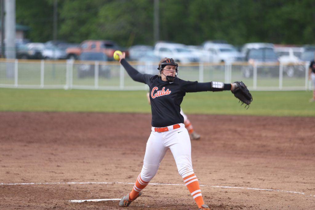 Alexandria's Lauren O'Dell was a Class 5A first-team pitcher. (Photo by B.J. Franklin/GungHo Photos)