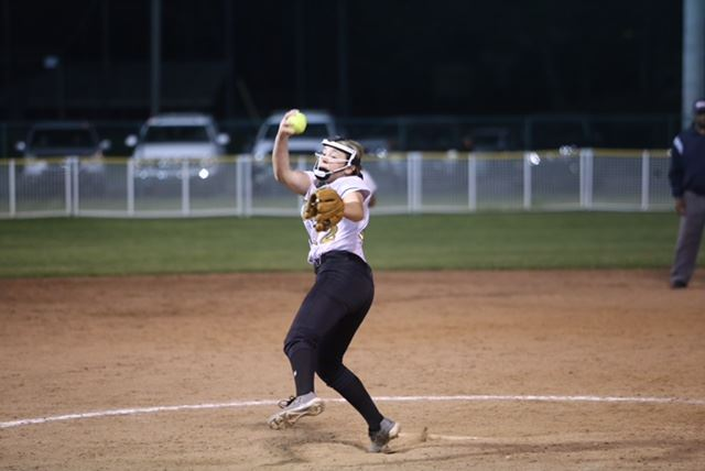 Oxford's Rylee Waldrep delivers a pitch in the Calhoun County Tournament. Walloper was named pitcher of the year in Class 6A. (Photos by B.J. Franklin/GungHo Photos)