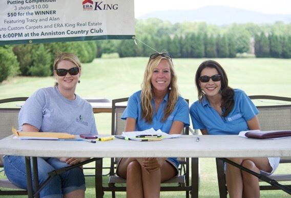 The volunteers at the check-in desk are ready for a busy day at Cider Ridge.