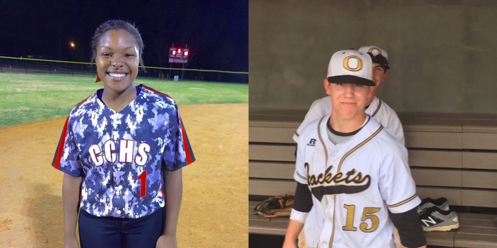Cleburne County's Kiara Akles (L) and Oxford's Nate Lloyd are scheduled to play in the North-South All-Star softball and baseball doubleheaders Tuesday in Montgomery.