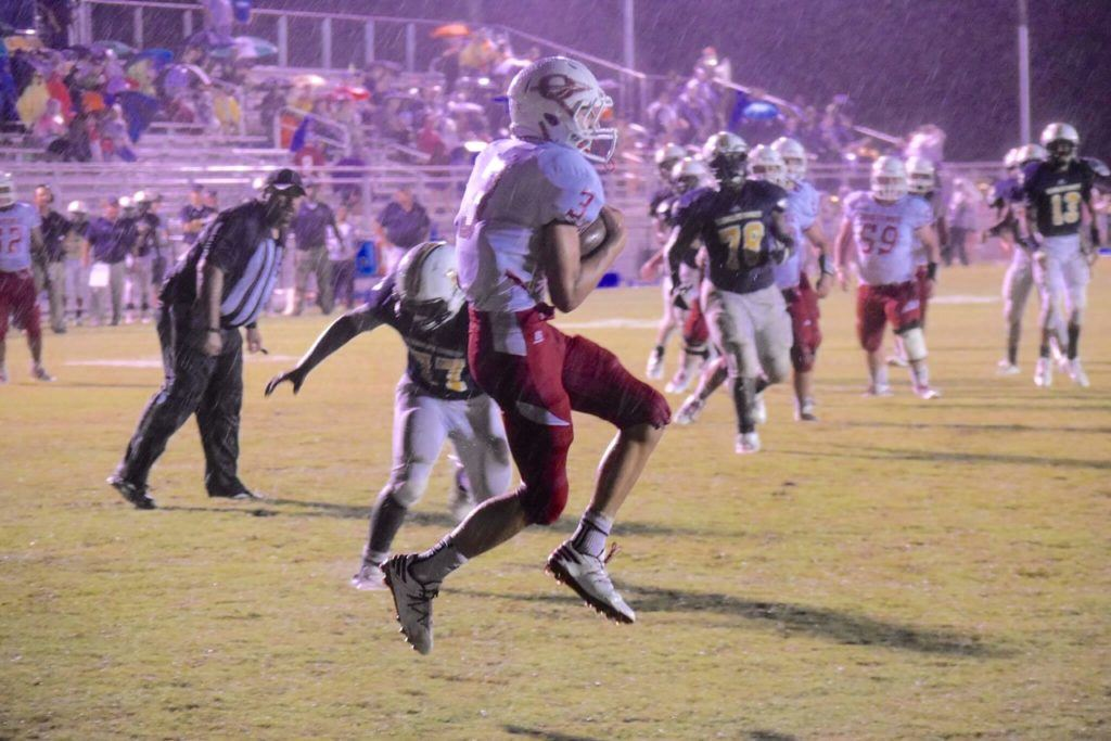 Austin Tucker grabs Ohatchee's go-ahead touchdown in the second quarter. It was one of three TDs he scored in the game.