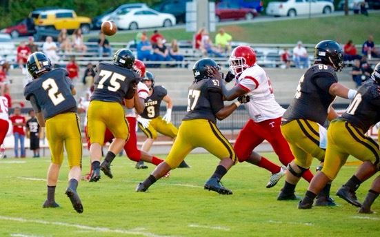 Oxford quarterback Abe Peoples (2) shows off his passing skills in a recent game. (Photo by B.J. Franklin/GungHo Photos)