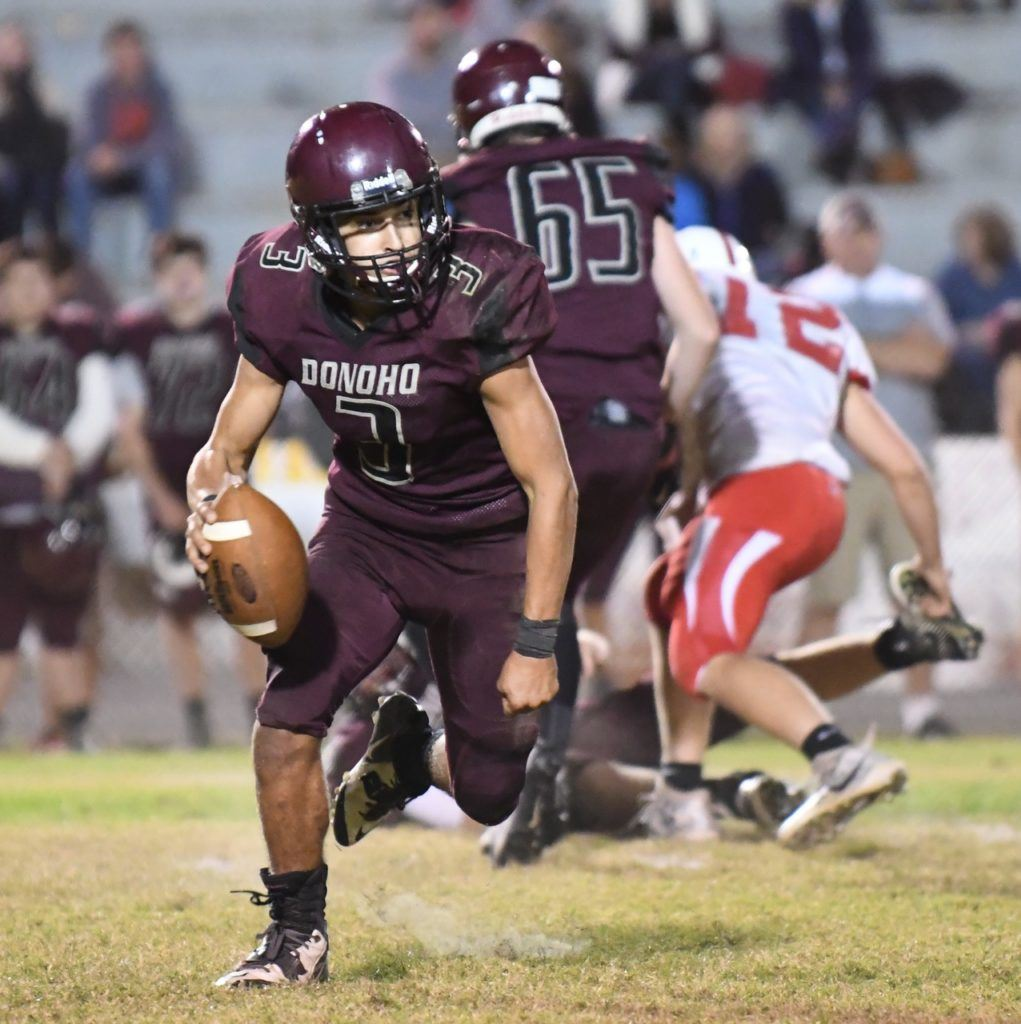 Garrett Steed had a long touchdown run and a long touchdown pass for Donoho Friday night.