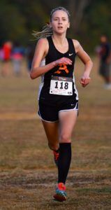 Alexandria's Abby Nunnelly won the girls race by more than 90 seconds, has eye on winning Calhoun County Championship. (Photo by B.J. Franklin/GungHo Photos)