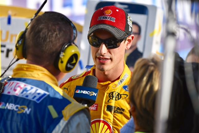 Joey Logano survived at least two potential disasters to win the Hellmann's 500 and lock up a spot in the next round of the Sprint Cup Chase. On the cover, he leads the field to the checkered flag. (All photos by B.J. Franklin/GungHo Photos)