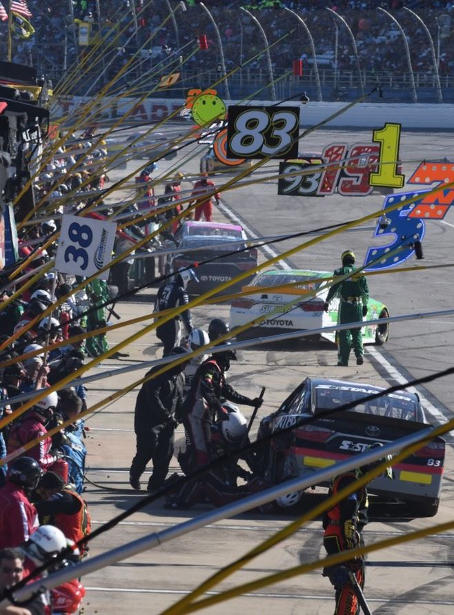 Pit crews work to get their drivers back on the track as quickly as possible. (Photos by B.J. Franklin/GungHo Photos)