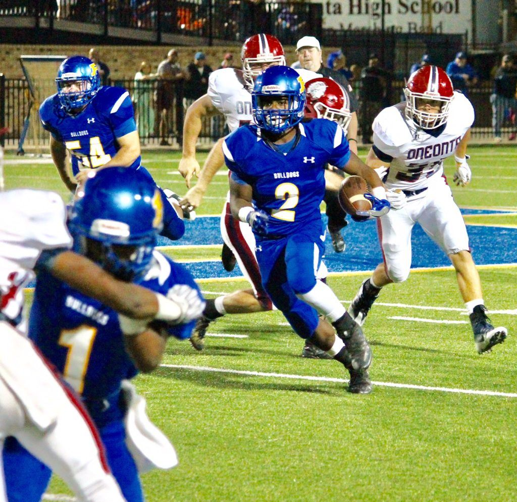 Lee Stanley rushed for 98 yards and scored Piedmont's first two touchdowns.