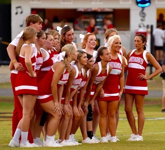 Ohatchee's cheerleaders have had a lot to get excited about as the Indians are 7-0 and tied for the lead in Class 3A Region 5. (Photo by B.J. Franklin/GungHo Photos)