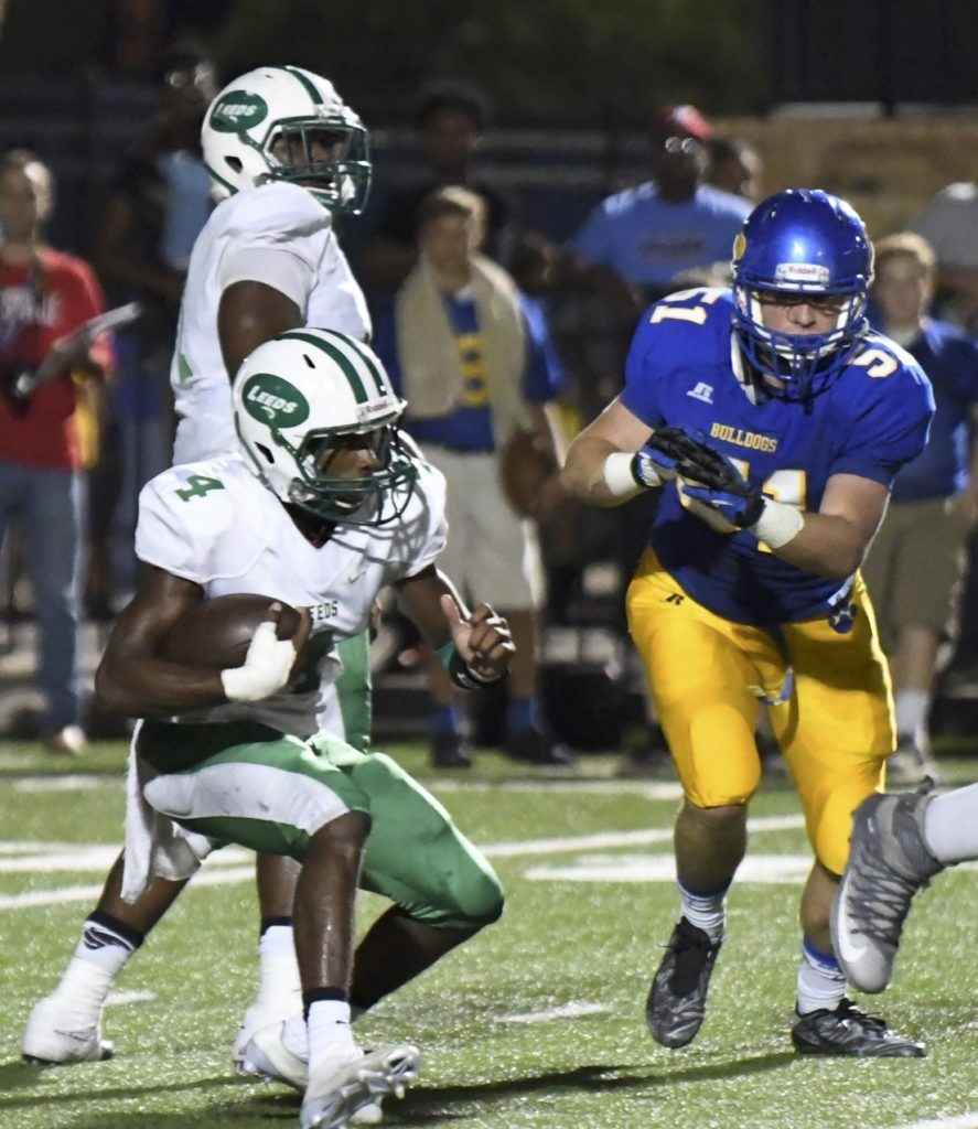 Two-time reigning state champion Leeds is in a fight for the Class 4A Region 3 title. (Photo by B.J. Franklin/GungHo Photo)