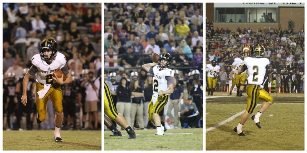 Here's a montage of all the ways Abe Peoples scored touchdowns for Oxford Friday night -- running, passing, receiving. (Photos by Kristen Stringer/Krisp Pics Photography)