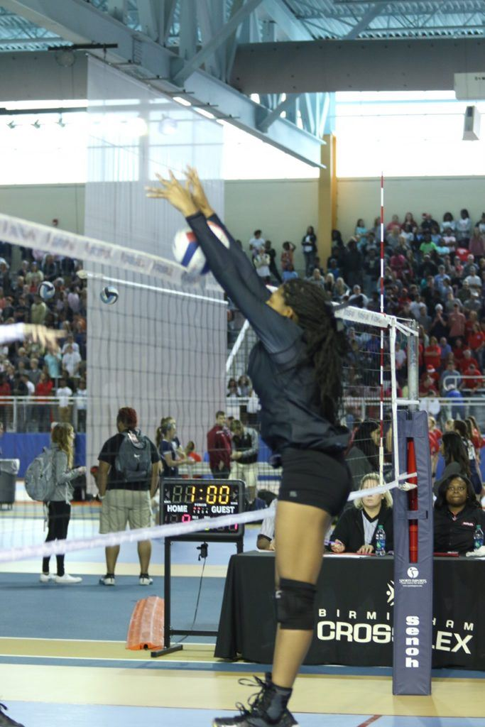 Oxford's Nyia Archie was particularly strong at the net for the Lady Yellow Jackets.